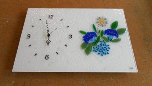 orologio da parete, decorazioni in cristallo