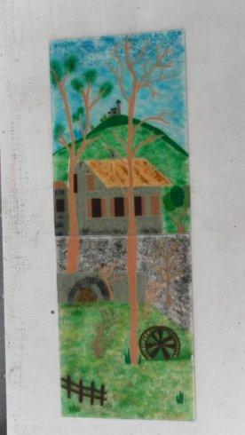 pitture su vetro, realizzazione disegni su vetro