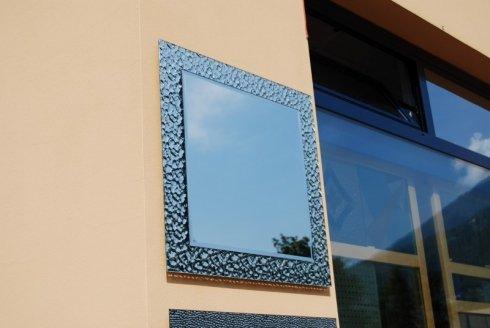 specchio con decori, specchiera