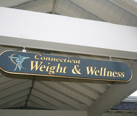 Weight and wellness nameboard