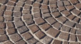 Pavimentazione a mosaico in porfido