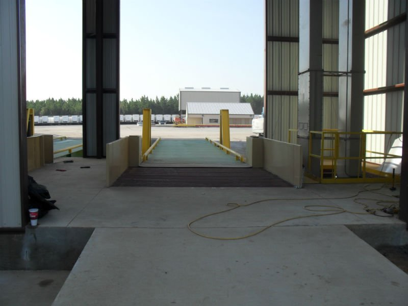 View of the new facility installed by agriculture contractors in Cairo, GA