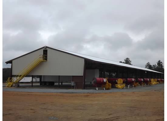 View of the agriculture facility installed by agriculture contractors in Cairo, GA
