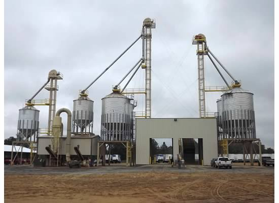 Exterior view of the new facility installed by agriculture contractors in Cairo, GA