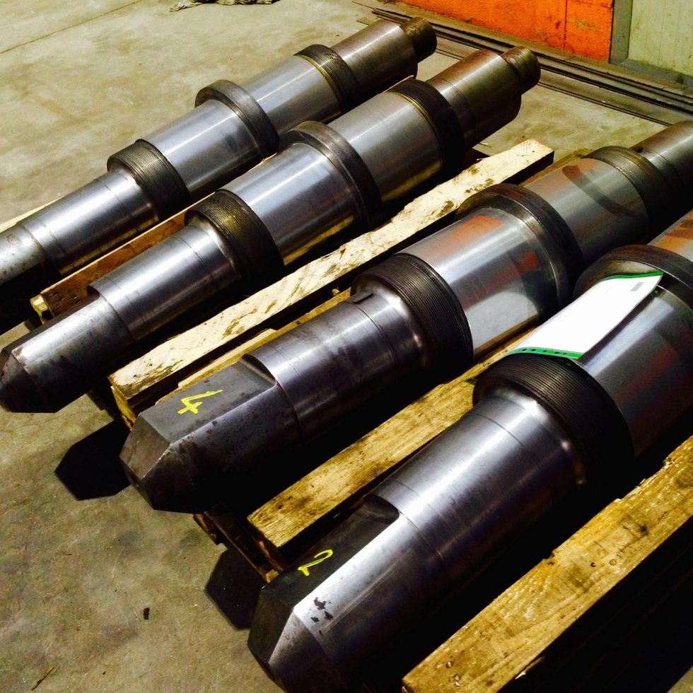 Restoration of rolling mill shafts