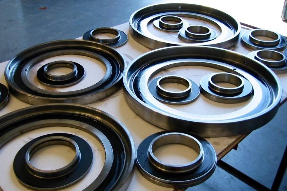 Front sealing rings