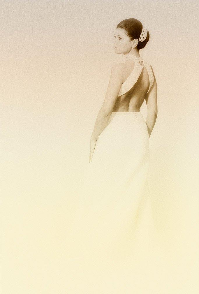 foto seppia sposa