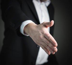 funeral directors Colonial Funeral Home handshake