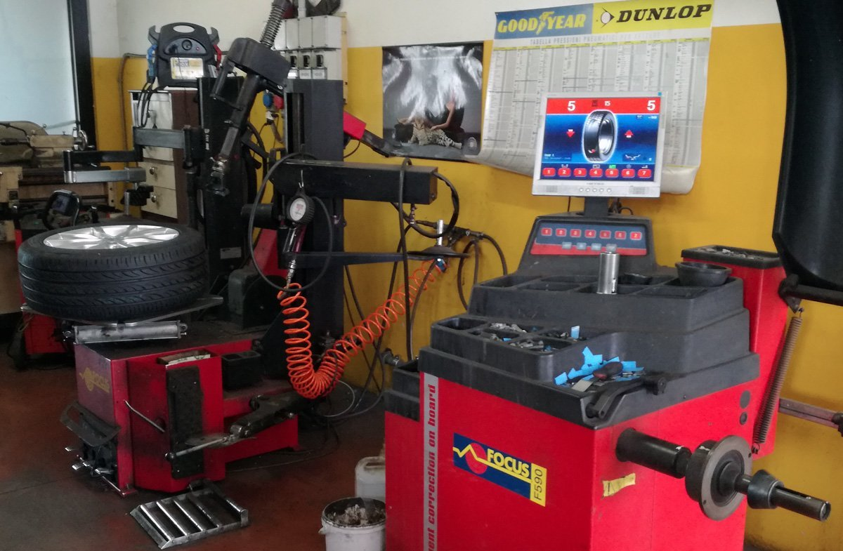officina cambio gomme