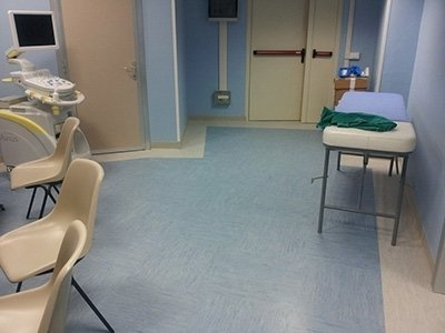Pavimento in gomma per ambulatorio medico