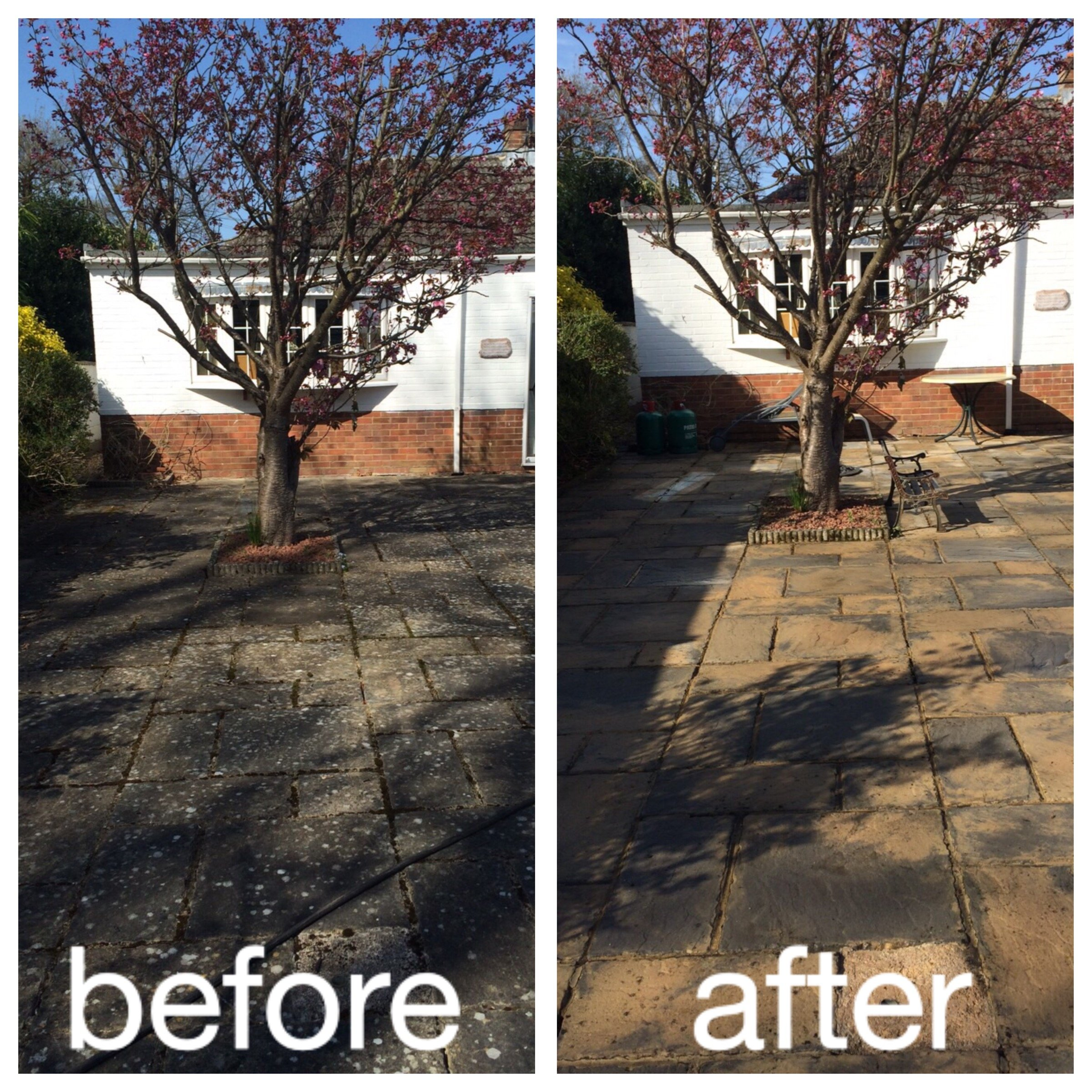 before and after garden patios