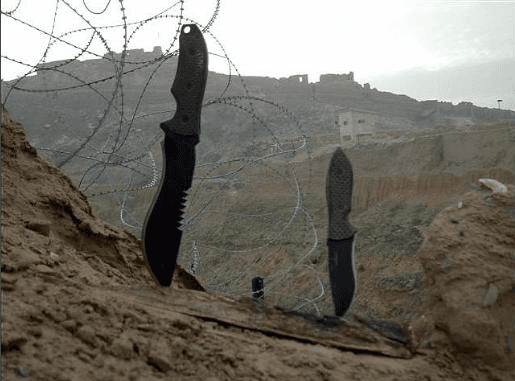 Grayman Knives outside the wire in Afhanistan