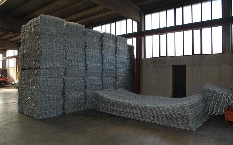 metal sheets for cylindrical gabions