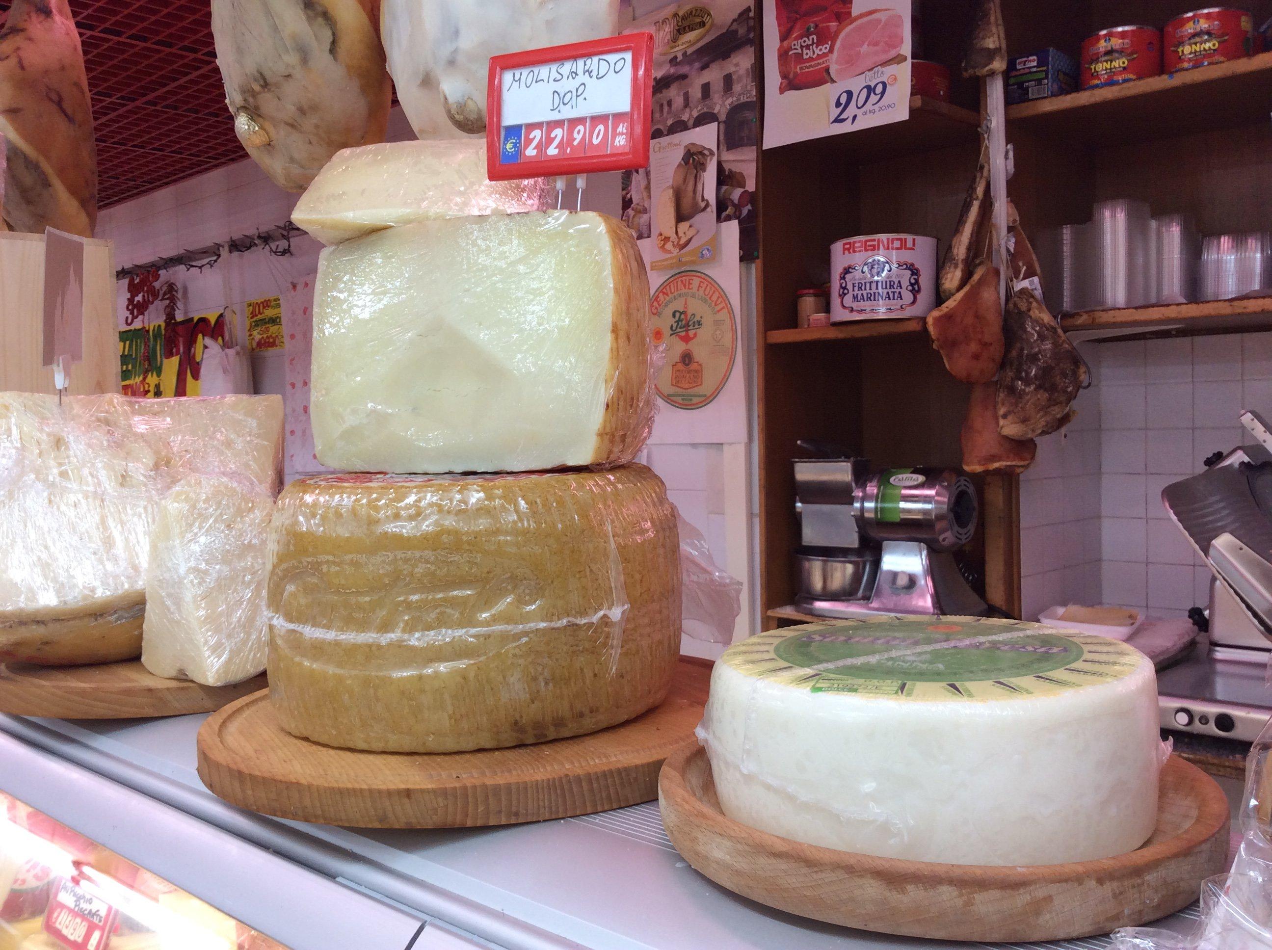 La selezione di formaggi freschi