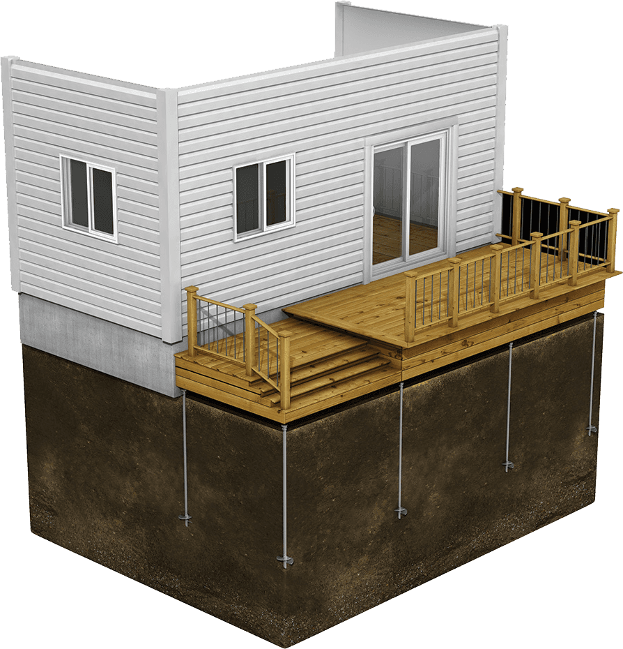 Colorado Helical Piles for Decks, Balconies, and Galleries