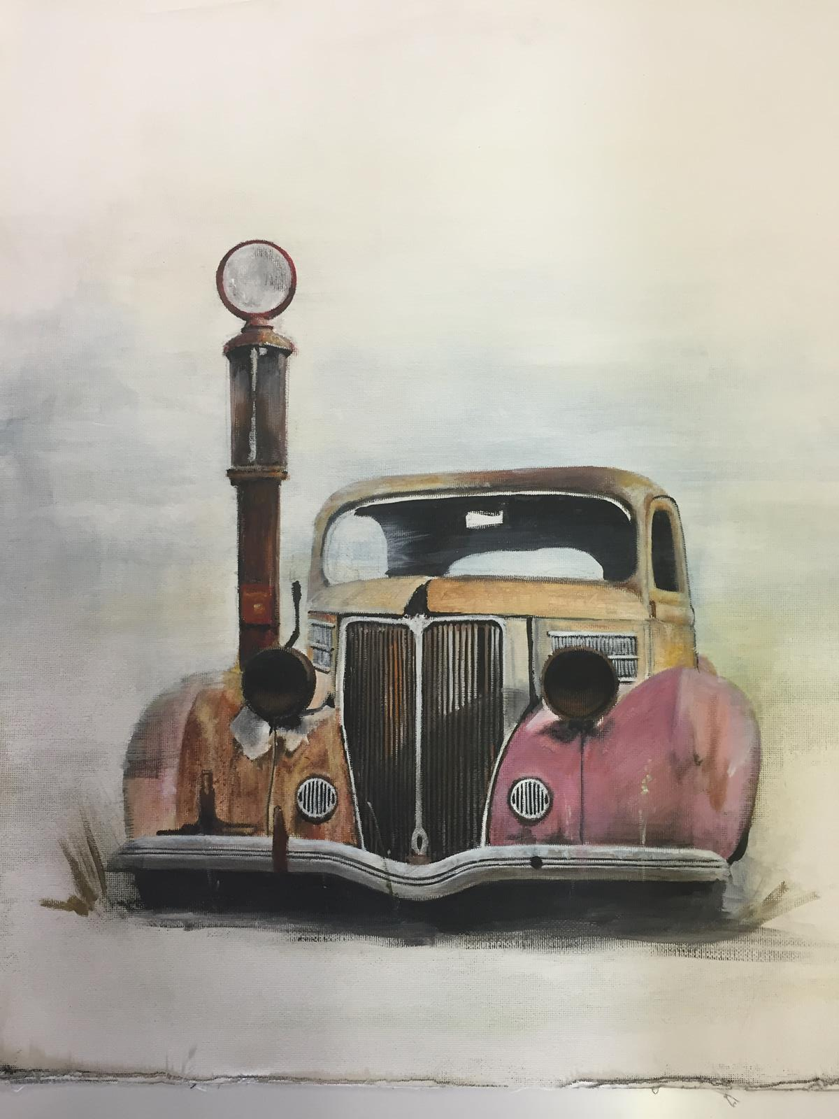 hot rod car art
