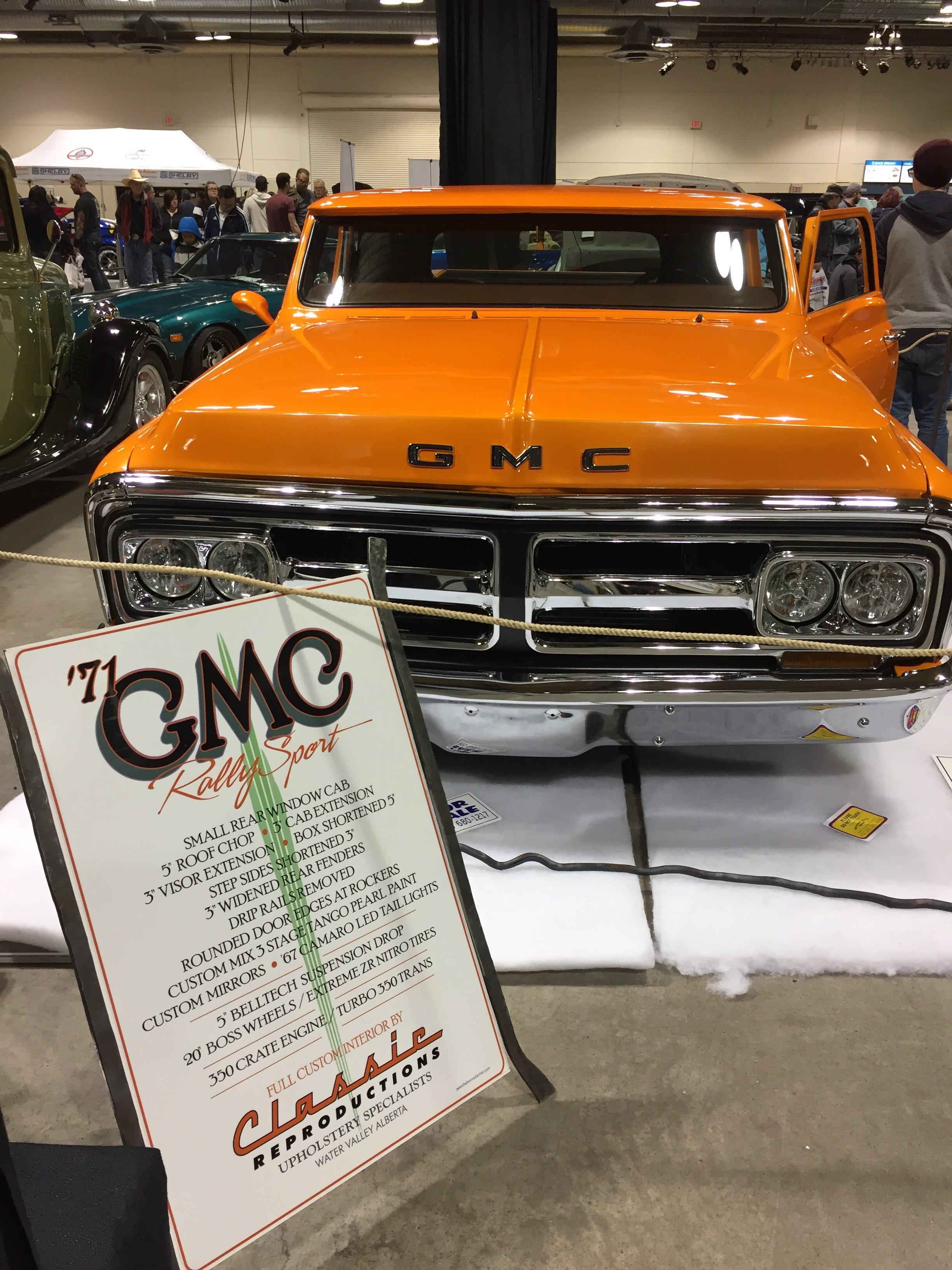 1971 GMC truck show sign