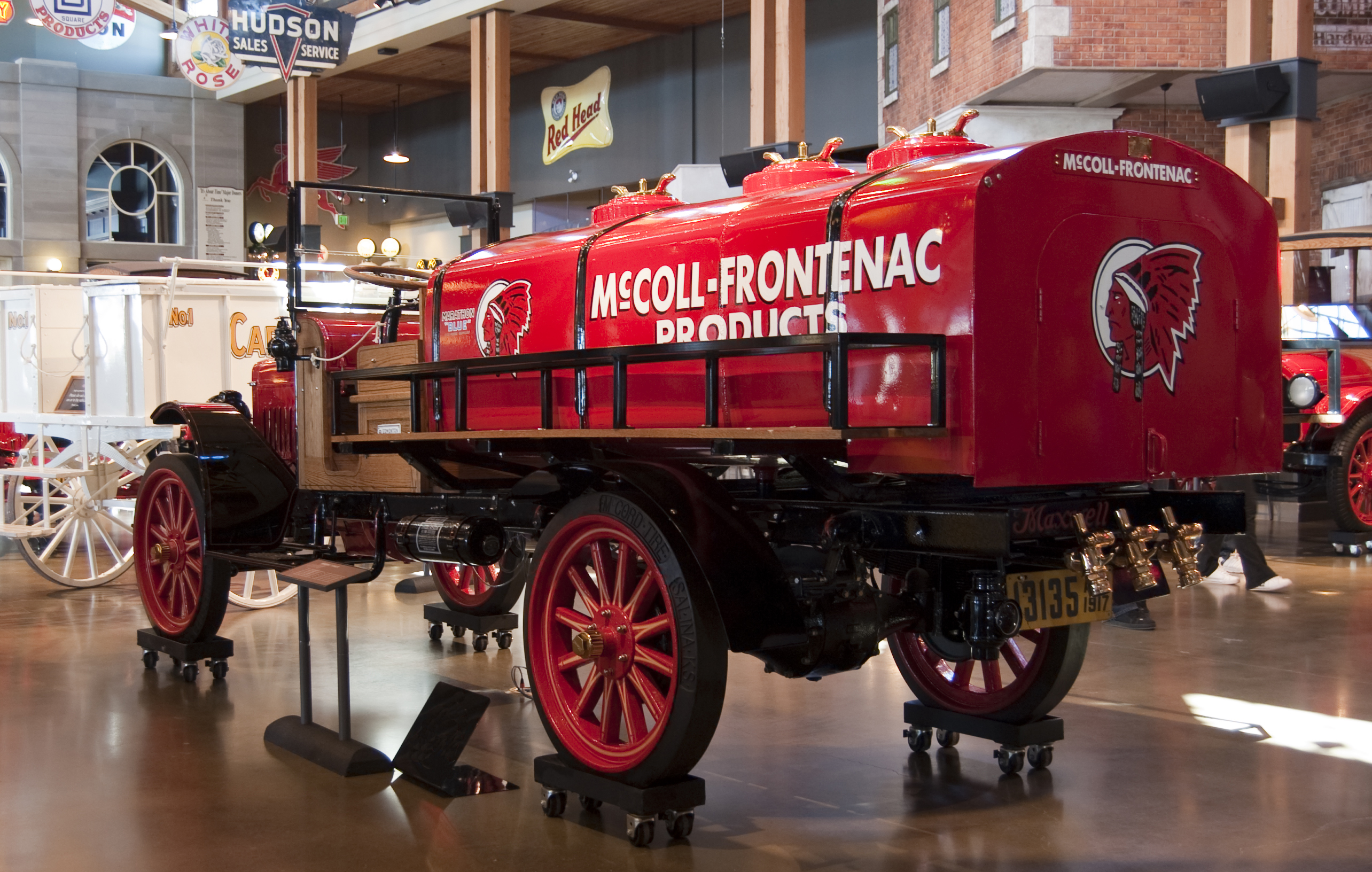 historic fire truck lettering