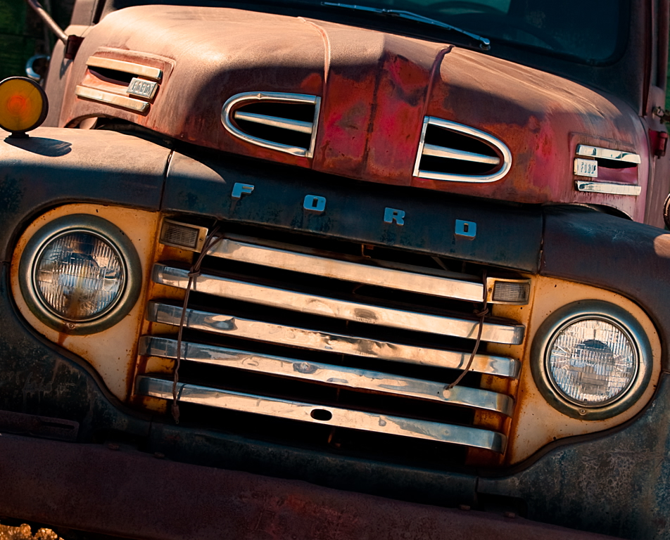 old ford truck grill