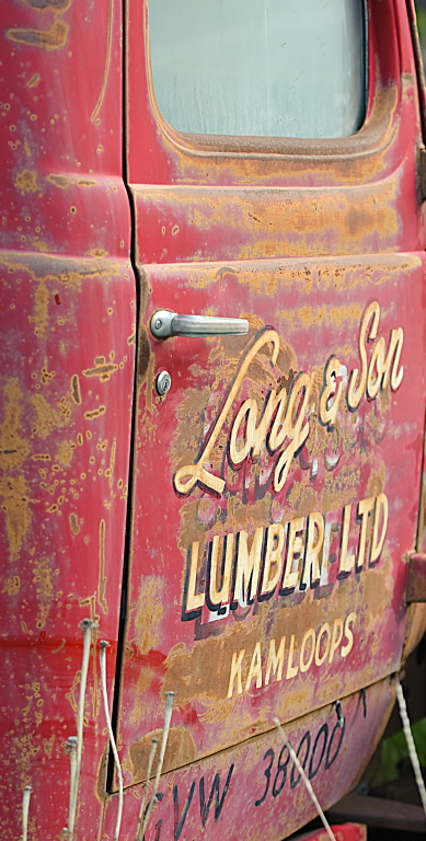 old truck lettering