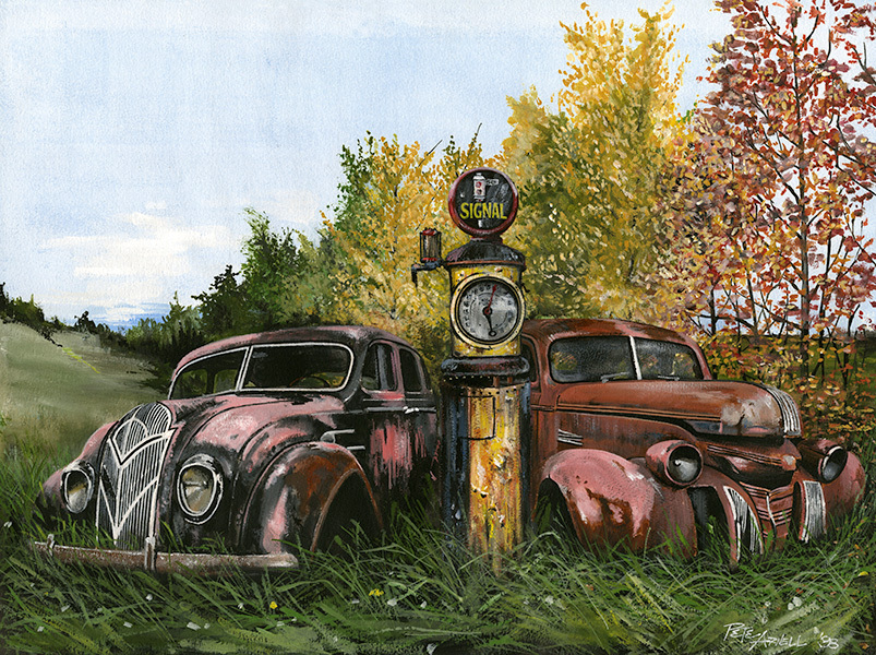 vintage car artwork