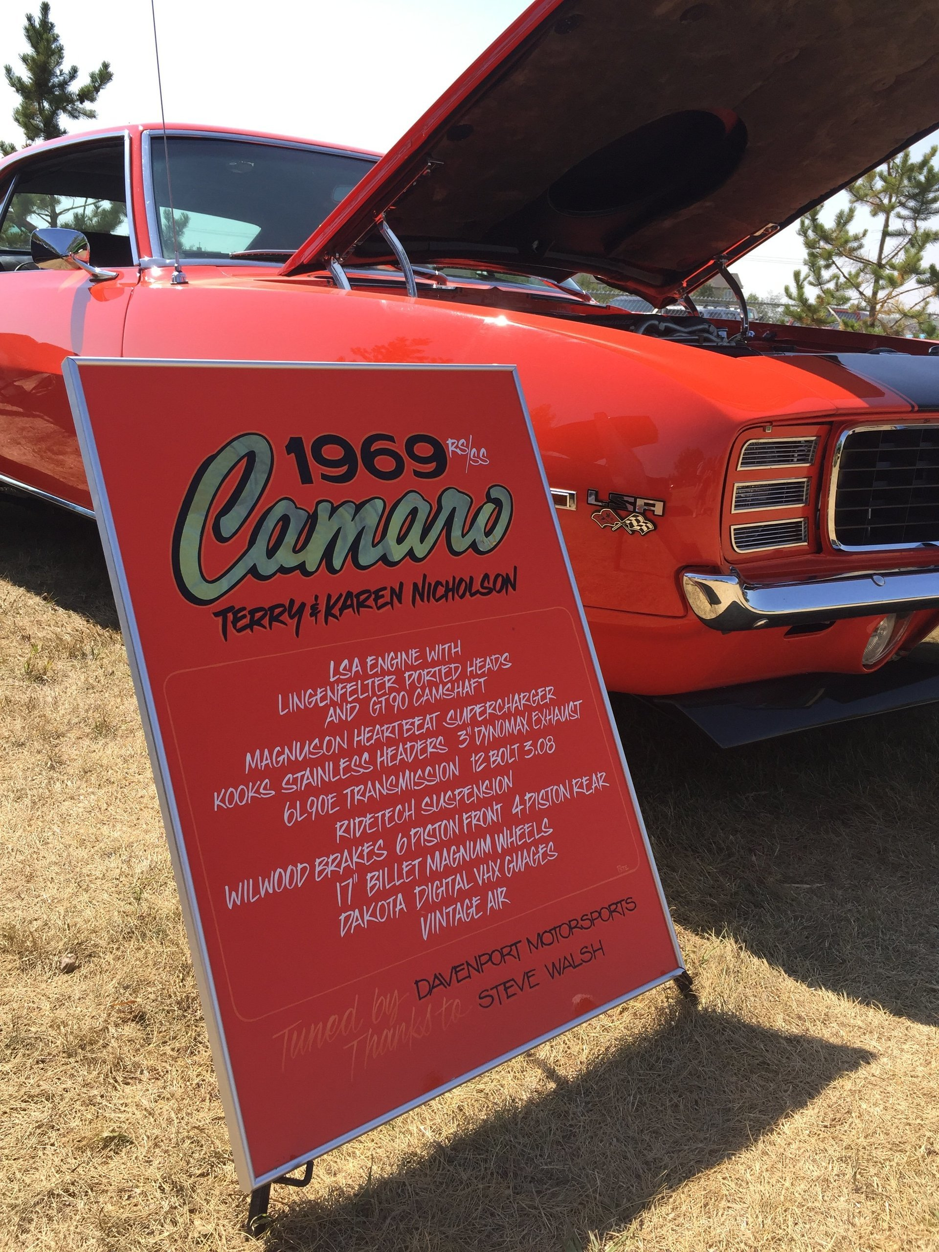camaro car show sign