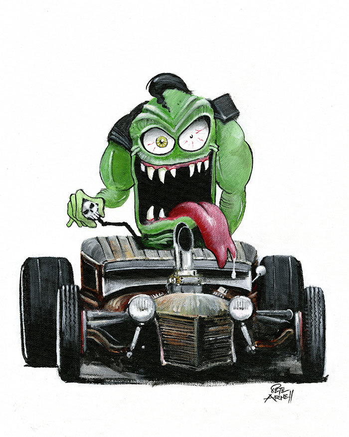 rat rod monster art