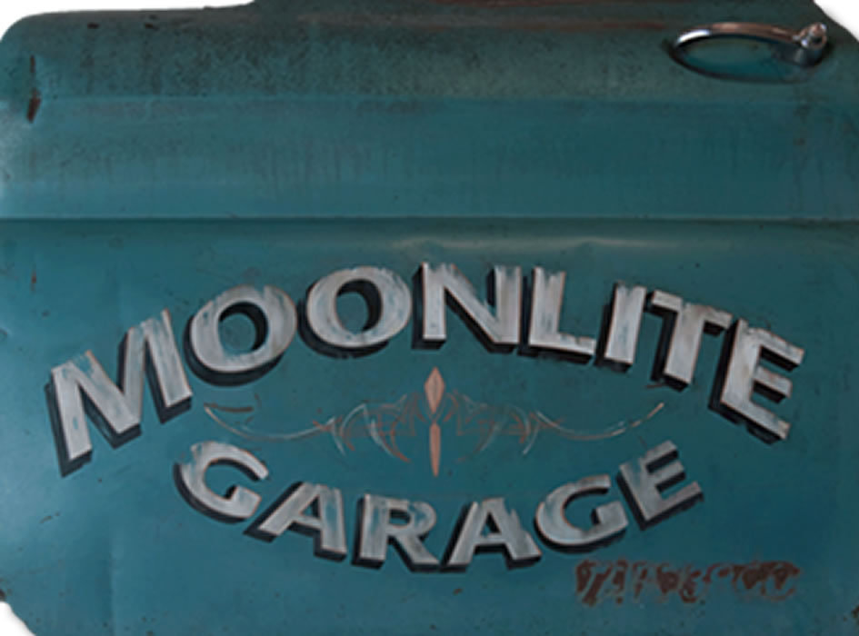 custom rustic lettering