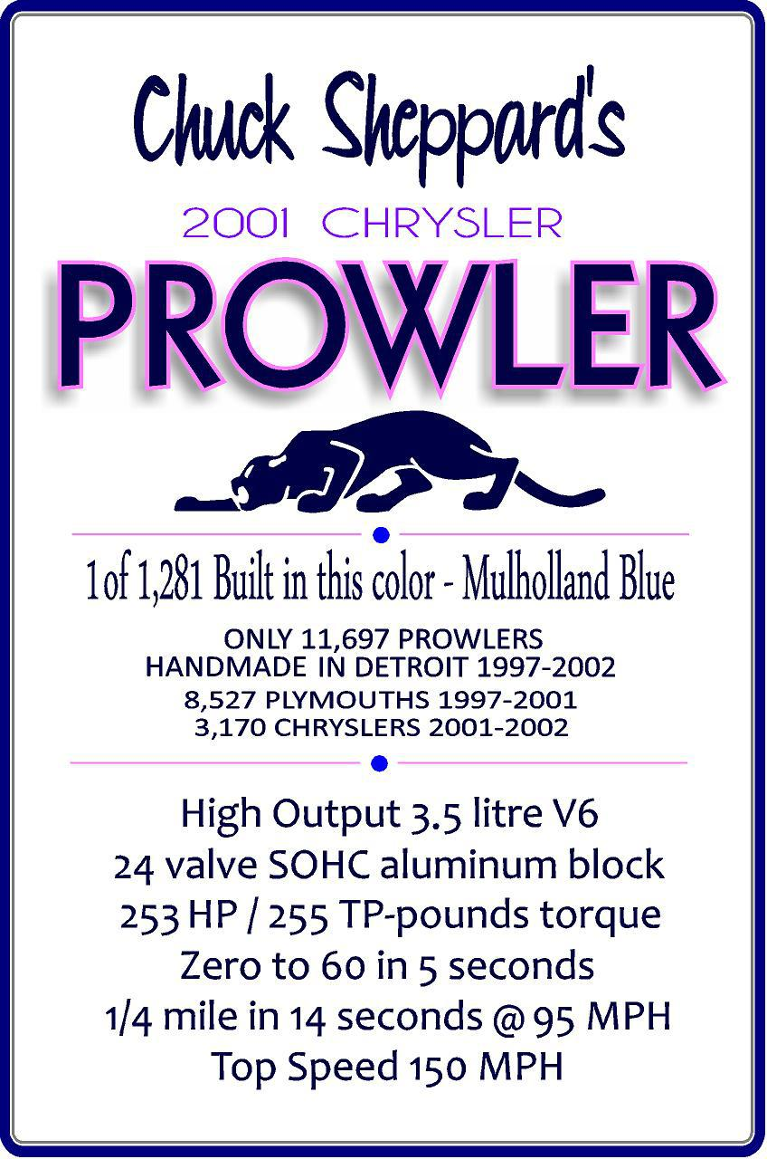2001 prowler signage