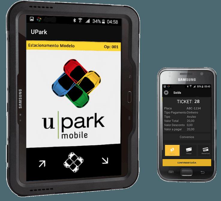 UPARK Mobile - Solução Mobile para Tablets ou Celulares Android.