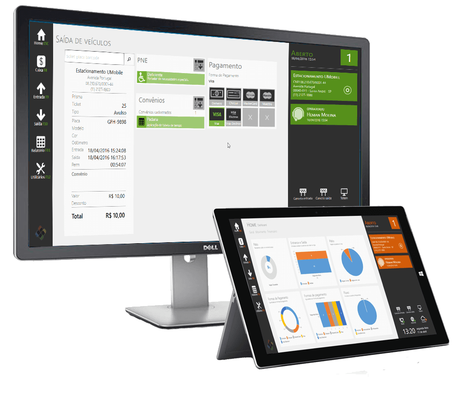 UPARK - Solução em PC para Estacionamento Informatizados ou automatizados