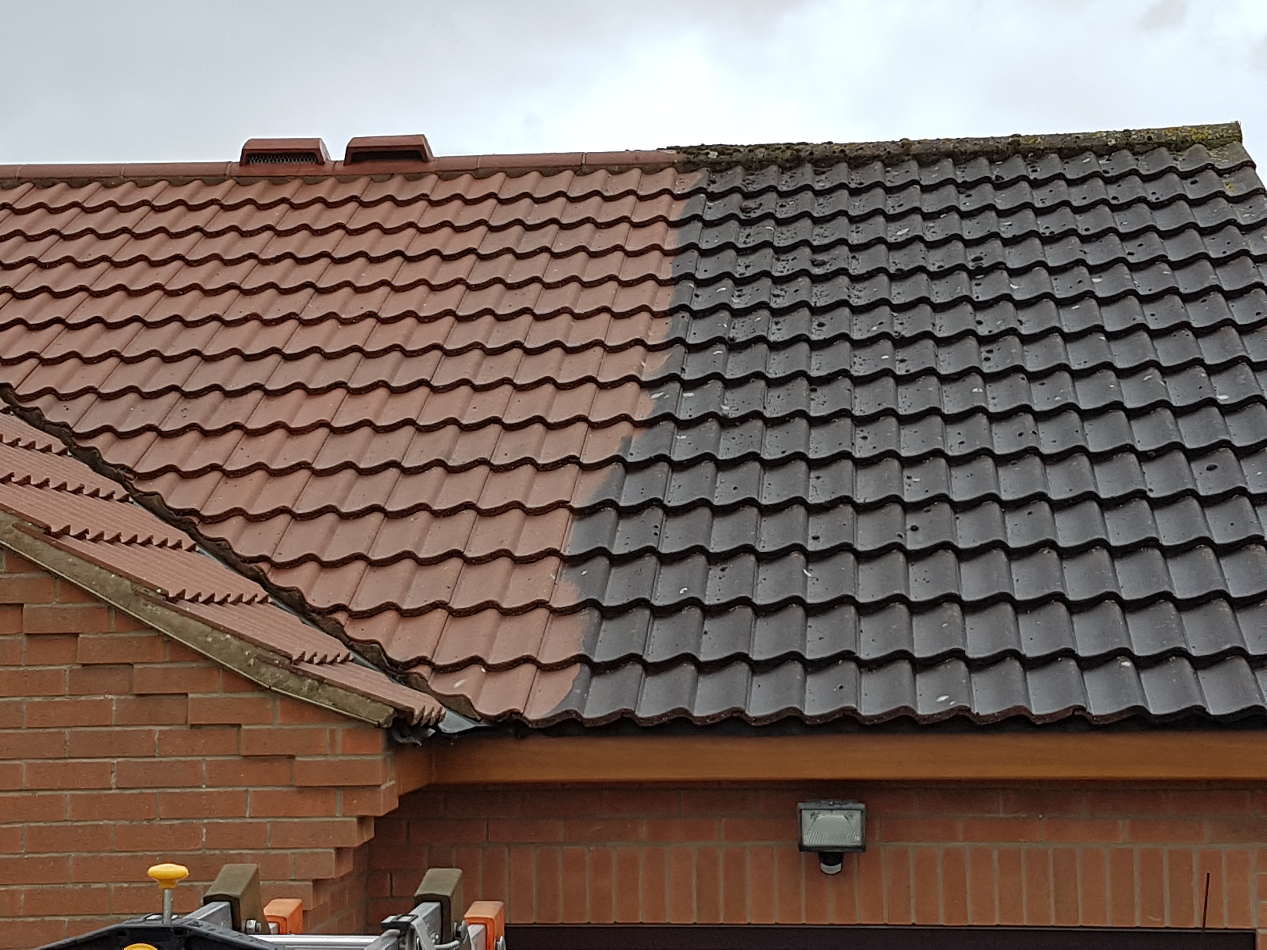 faded roof tiles