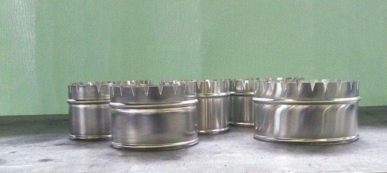 Manicotti in alluminio per pannello pre isolato