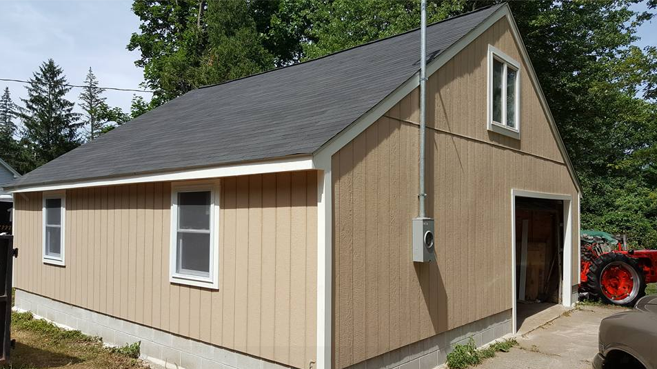 New roof and garage restoration