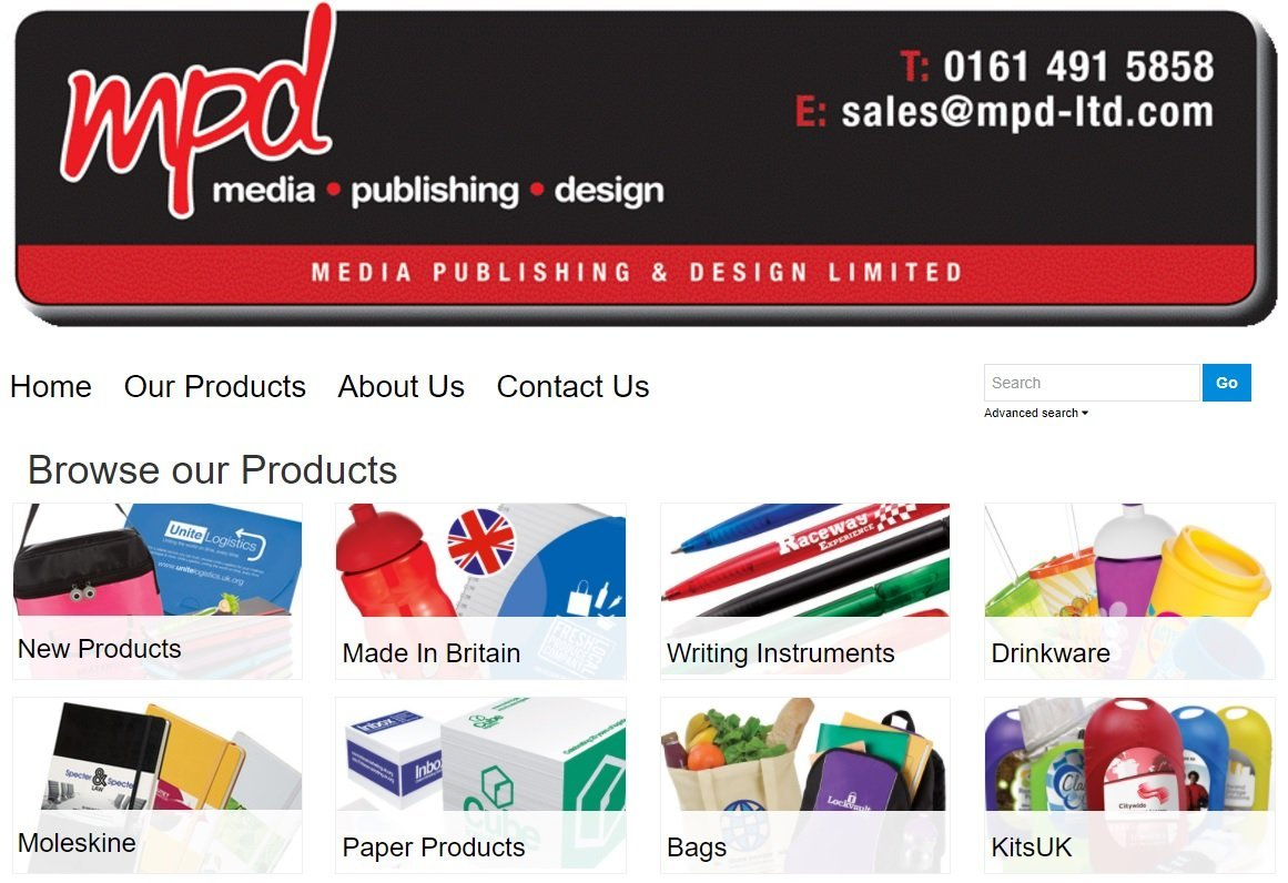 products promotion page
