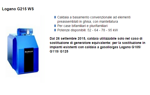 Logano G215 WS