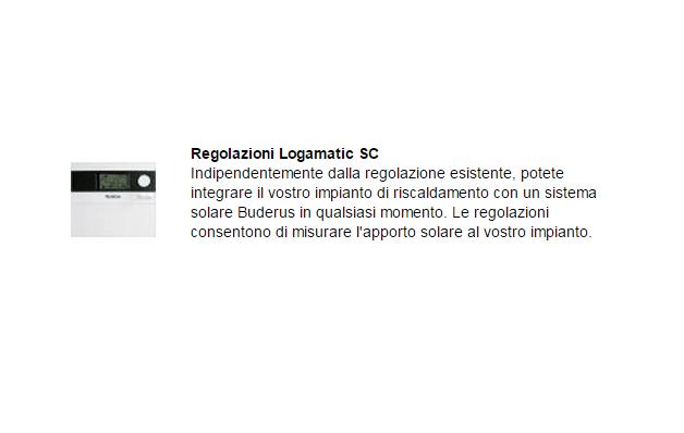 Regolazioni Logamatic SC