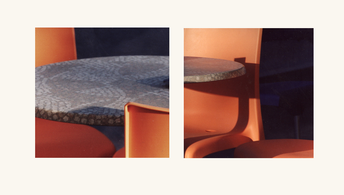 Diptych with table and chairs 1
