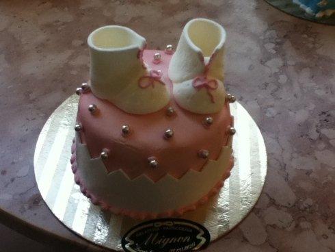 mini torta battesimo