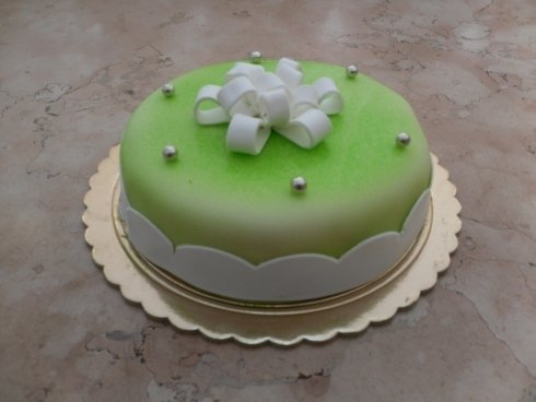 mini torta verde