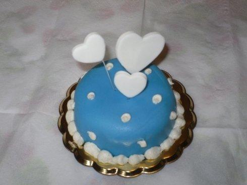 mini torta cuori