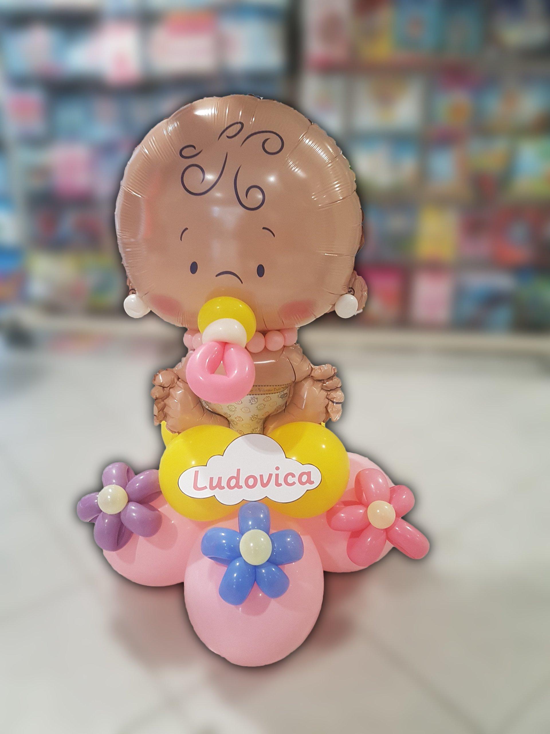 nascita-palloncini-bimba-accessori-fiori-margherite-trade-global-service