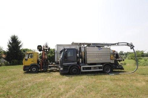 scavatrice, camion spurghi, video ispezioni