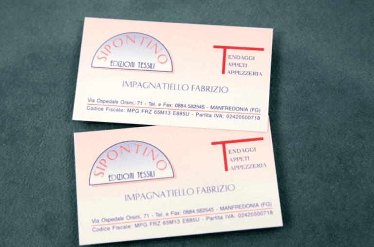 bigliettini da visita sipontino