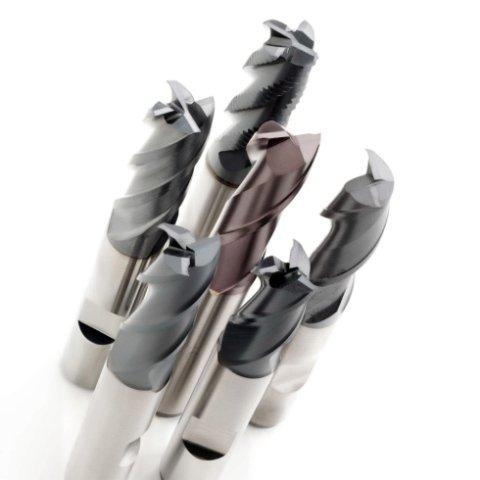 Frese cilindriche integrali in metallo duro