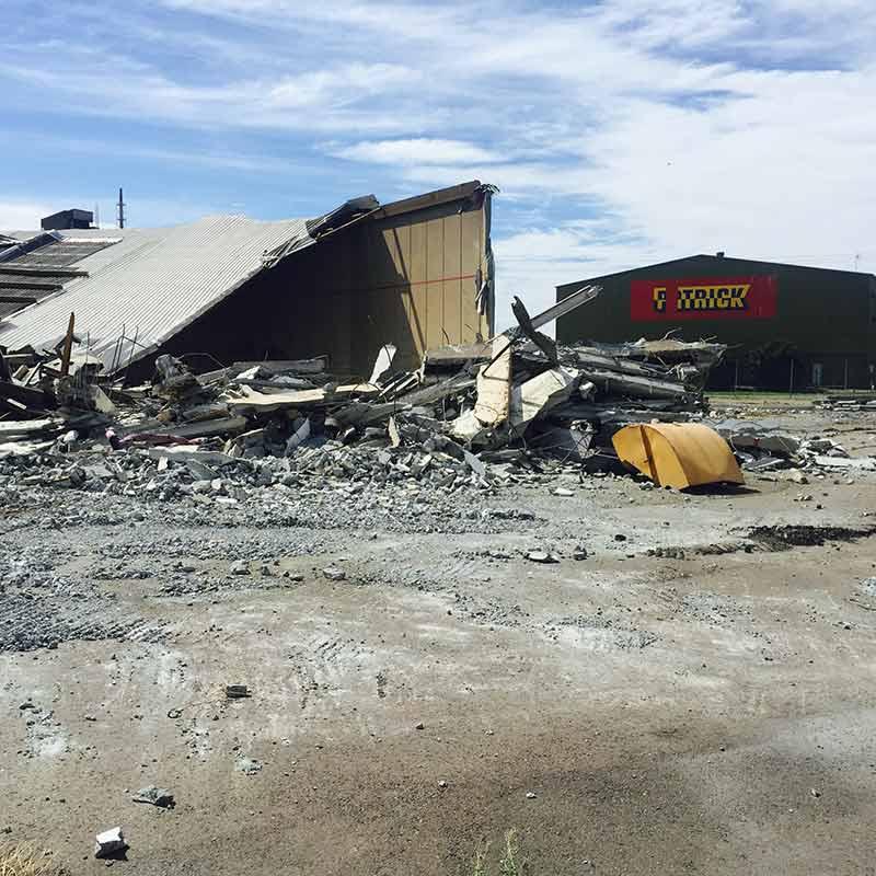 pile of demolition rubble