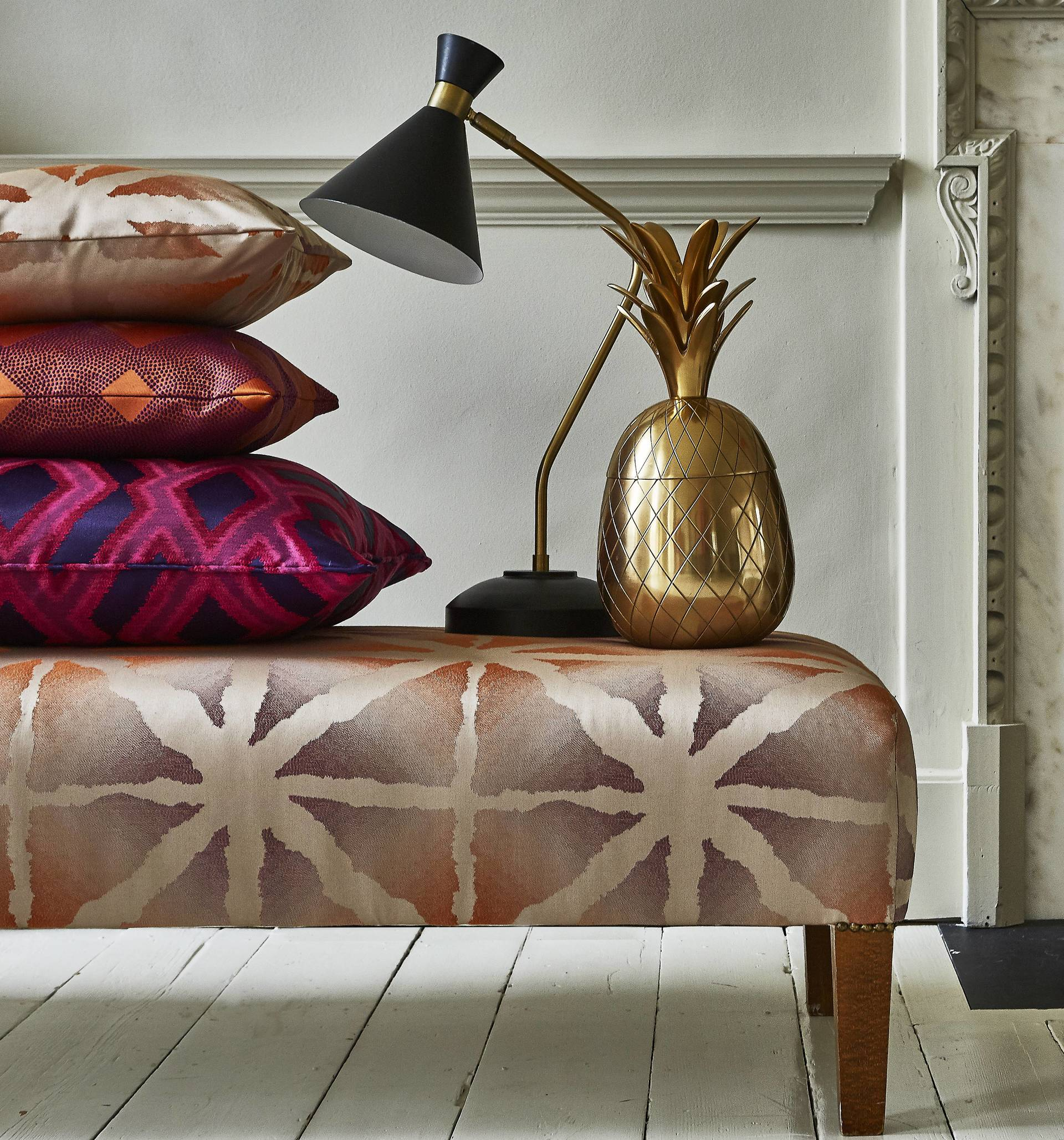 cushions and lamps