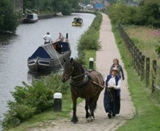 Horse carriages and canal boats