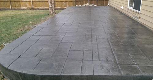 Concrete patio in Lincoln