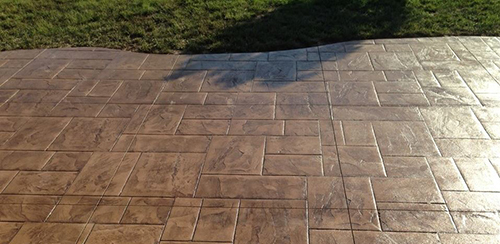 Decorative stamped concrete in Lincoln